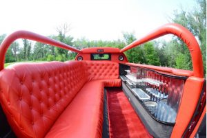 Red abriolet limousine interior