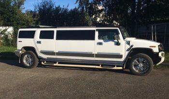 Hummer H2 white limousine exterior