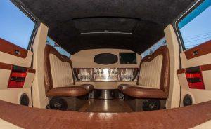 Hummer H2 white limousine interior