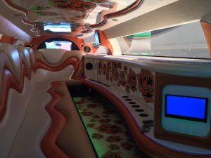 Chrysler 300C limousine interior