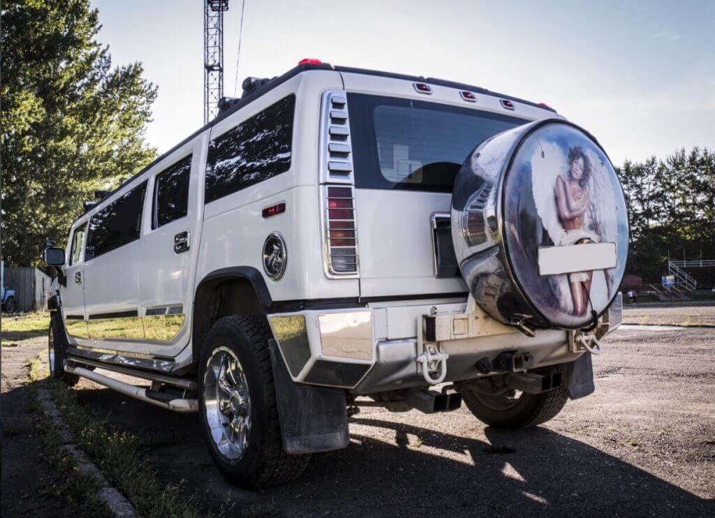 Hummer H2 white limousine