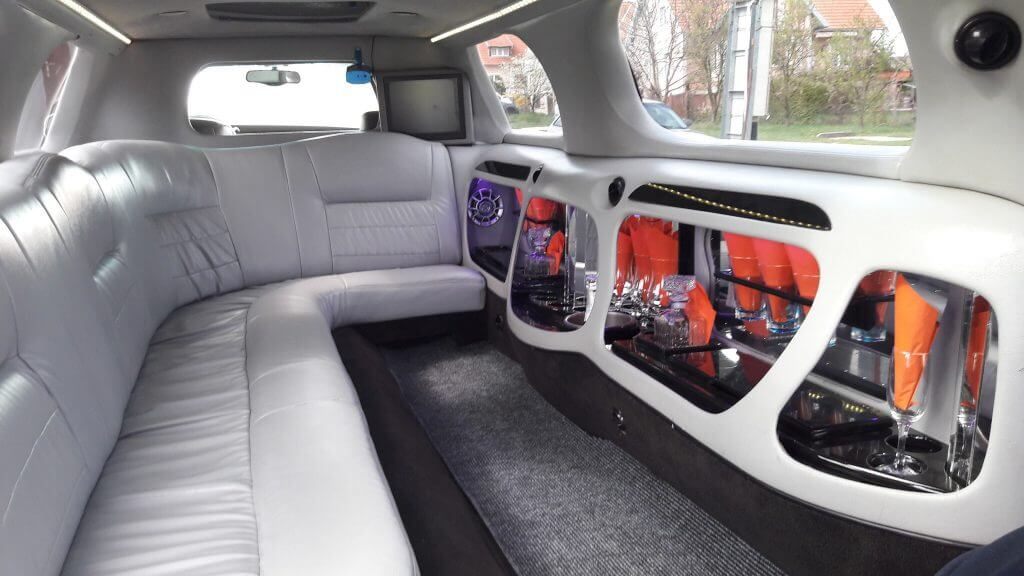 Lincoln Town Car limousine outdoor inside