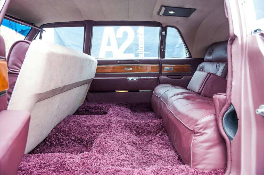 Cadillac fleetwood inside
