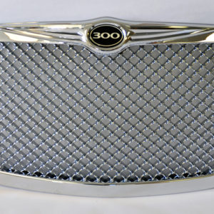 Chrome Honeycomb Front Grill Badge Fits Chrysler 300 300C 2005-2010 - LimoMarket.com