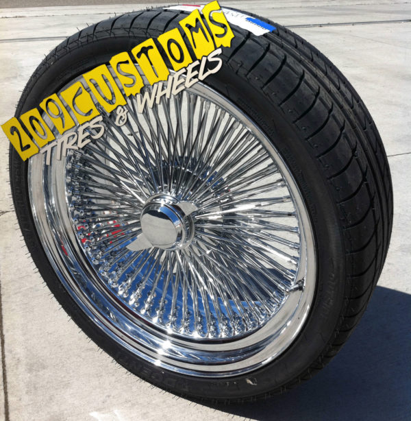 "20"" 20x8 STANDARD WIRE WHEELS SPOKES CHEVELLE NOVA CUTLASS REGAL SUPREME BUICK - LimoMarket.com"