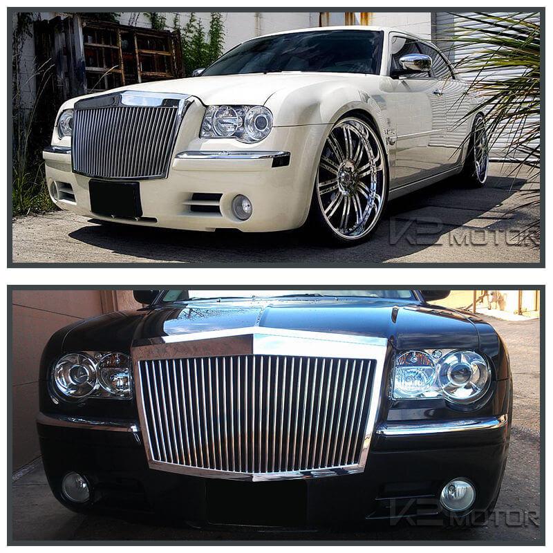 chrysler 300 300c vertical phantom style front bumper hood grille chrome limousines for sale in eu limomarket chrysler 300 300c vertical phantom style front bumper hood grille chrome