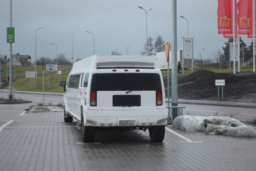 mega limo for sale rear